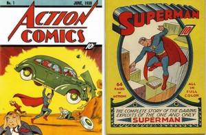 Covers to Action Comics #1 and Superman #1
