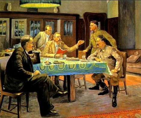 On 11 October 1931 Gorky read his fairy tale A Girl and Death to his visitors which included Joseph Stalin, an event that was later depicted by Viktor Govorov in his painting